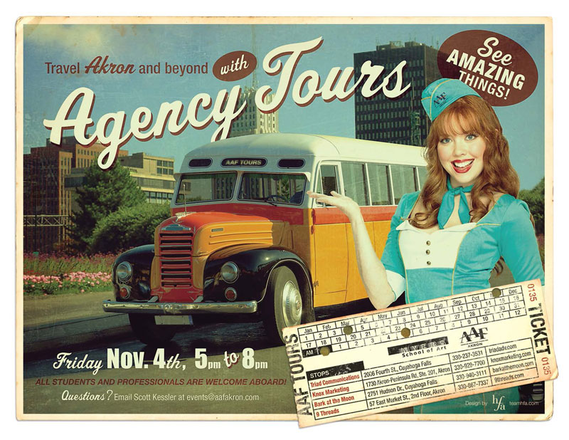 AAF-Akron Agency Tours Poster