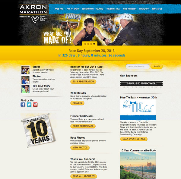 Akron Marathon Website