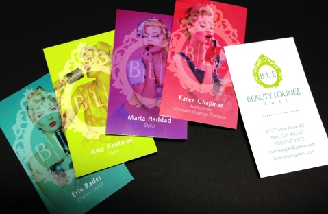 The Beauty Lounge East BusinessCards