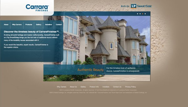 Carrara Finishes Website