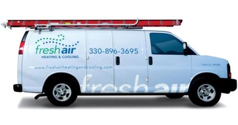 Fresh Air Heating And Cooling VanWrap