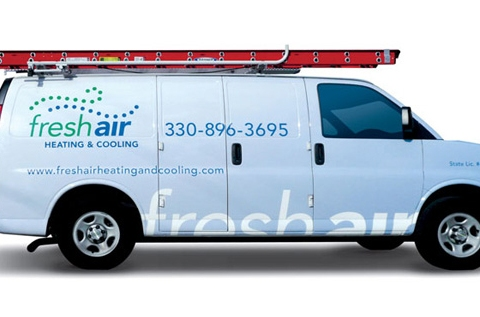 Fresh Air Heating And Cooling Van Wrap